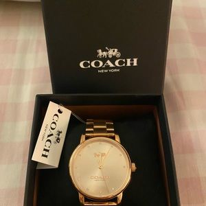 Coach women's grand stainless steel rosegold